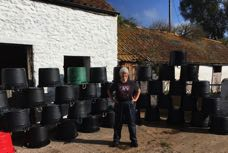 Jane finally finished washing the 127 tubs on Thursday.